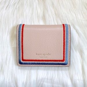 Kate Spade Small Bifold Eva Embroidered Wallet